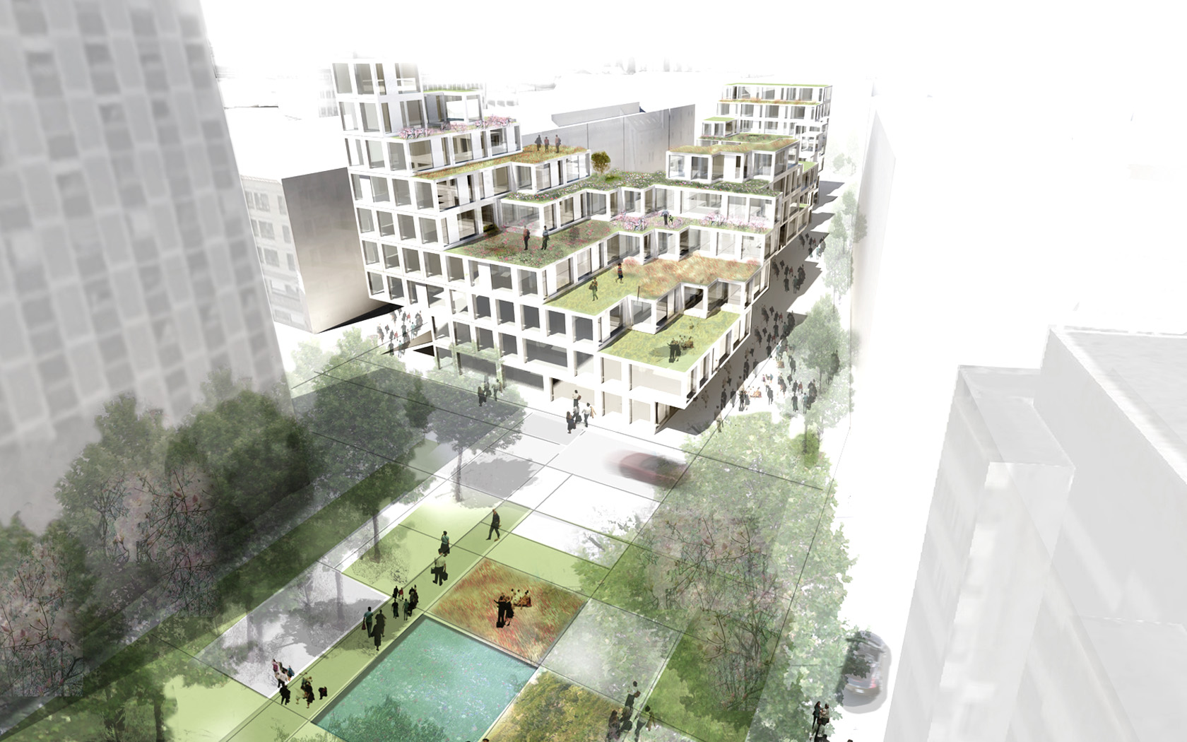 By using a small scale basic unit, turning complex inner city voids into spaces for development.