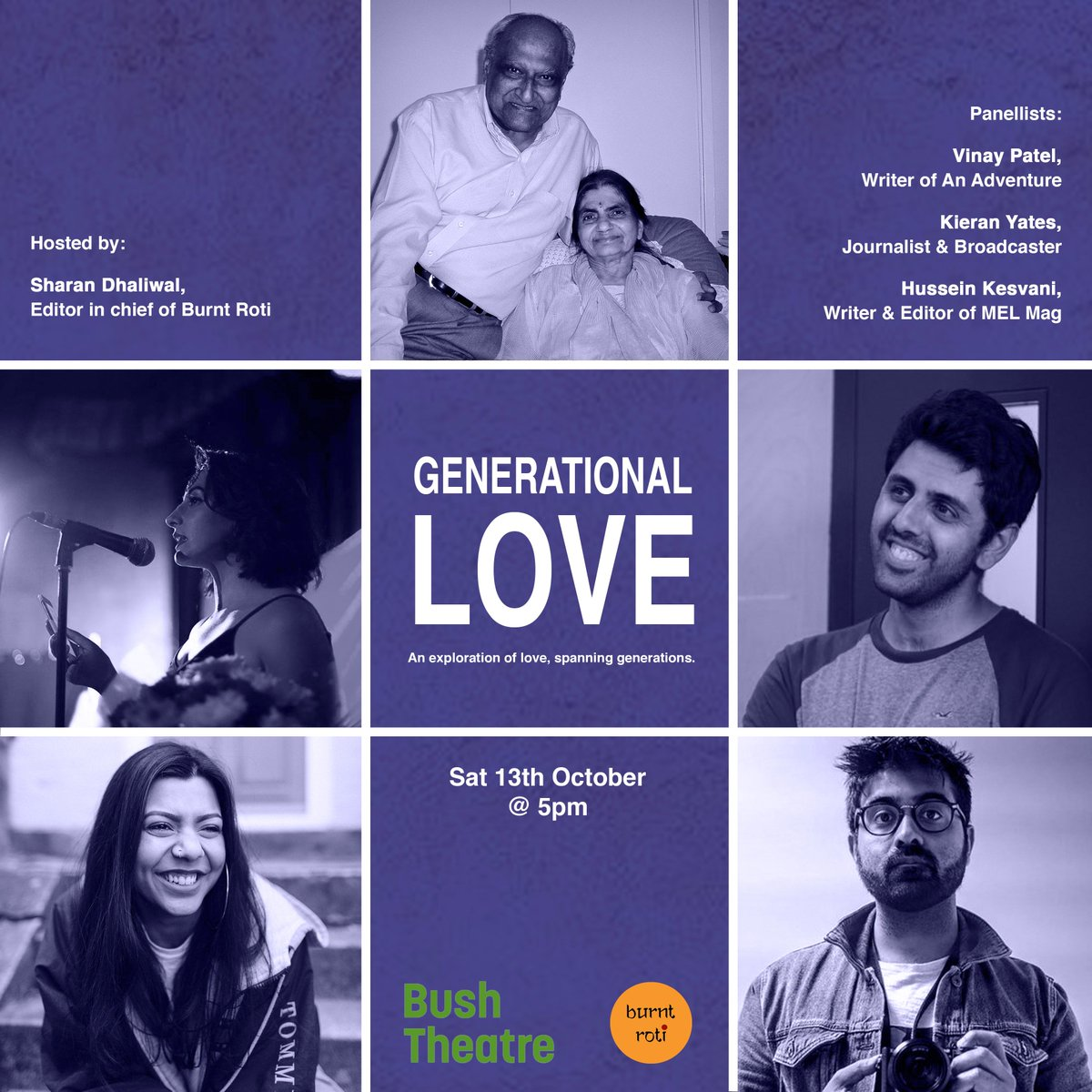 Bush Theatre - An Adventure 'Generational Love' - I chaired a panel at Bush Theatre for Vinay Patel's play 'An Adventure', discussing generational love and how it affects our ideas of romantic love now.