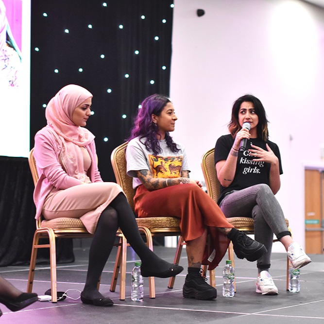 Asian Woman Festival - A Festival of Identity, Birmingham - I spoke on panel talks about 'What it means to be a British Asian woman' and 'Anti-blackness and Colourism' for the Asian Woman Festival in Birmingham.