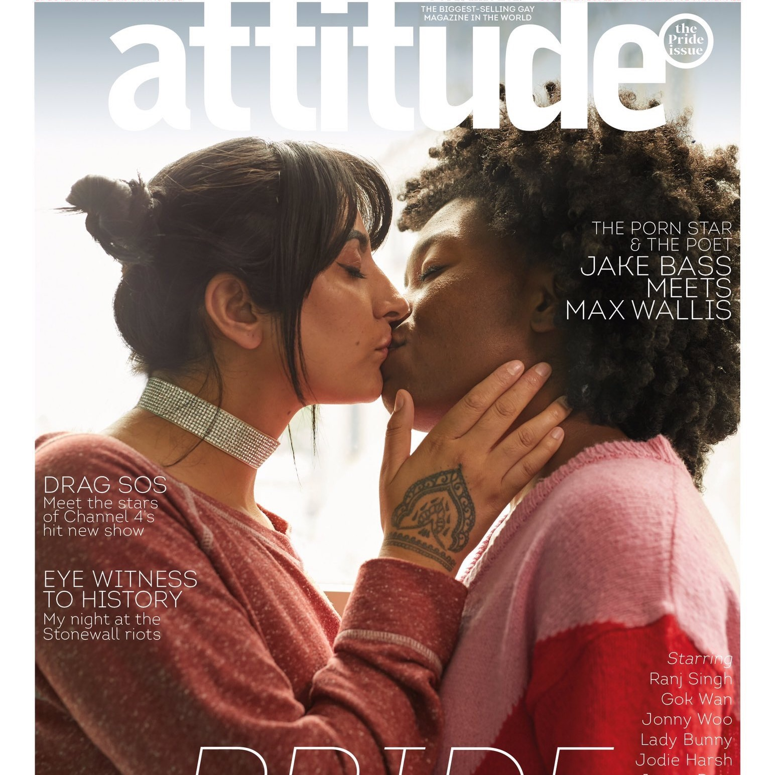 Attitude Magazine - Pride Issue - On the cover of Attitude Magazine's 25th anniversary issue and 50 years since the Stonewall riots.BUY YOURS HERE