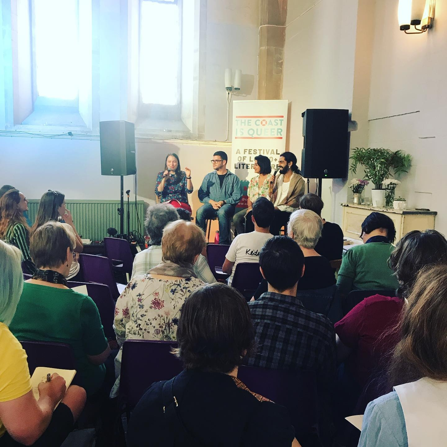 The Coast Is Queer Literacy Festival - I spoke about Burnt Roti at the Publishing & Platforms panel at The Spire in Brighton.
