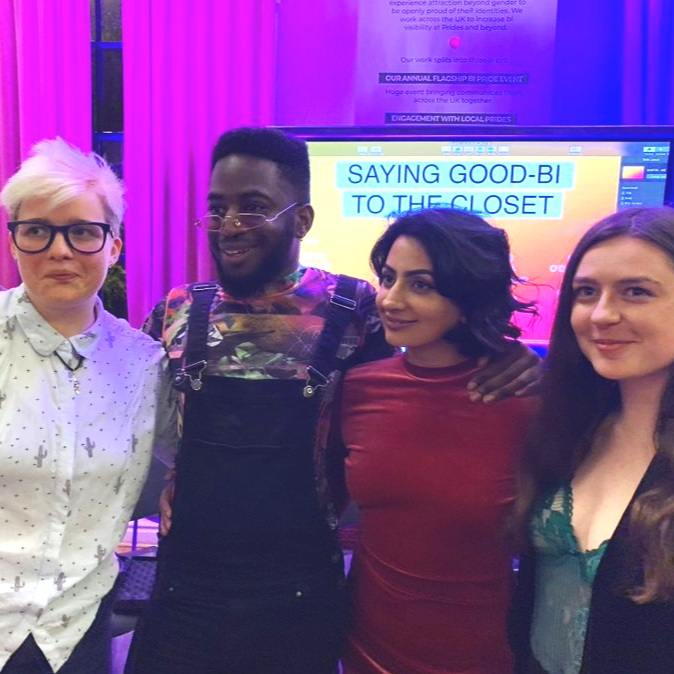 Bi Pride 2019 - panel talk - I spoke on the 'Saying Good-Bi To The Closet' panel at Bi Pride 2019. I was joined by Cerys Bradley (Chair), Emily Eaton and Rhammel O'Dwyer Afflick.