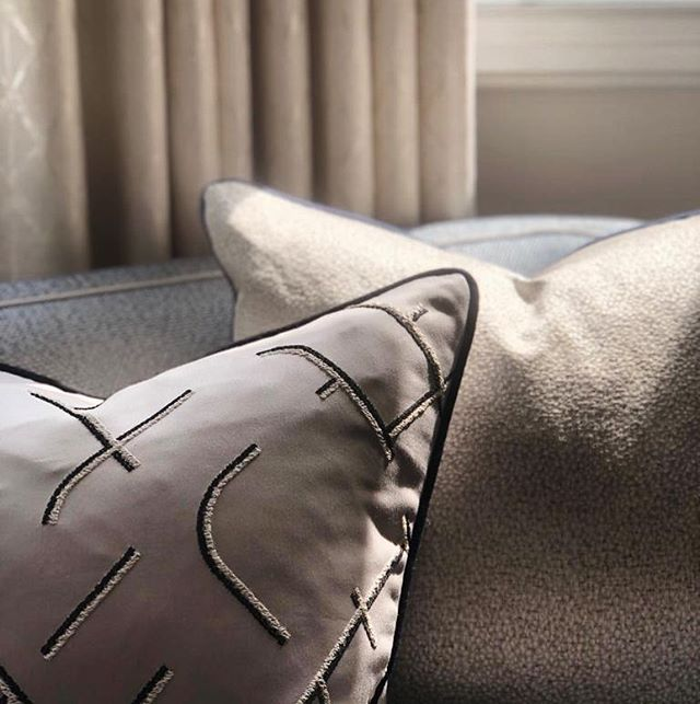Subtle, silky textures from our shoot this week #interiordetails #interiordesign #cushionlove #pattern