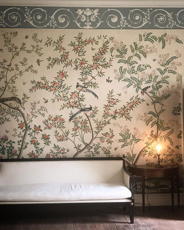 Perfect day for a tour of Sir John Soane's Pitzhanger Manor #handpaintedwallpaper #mouldings #interiordesign