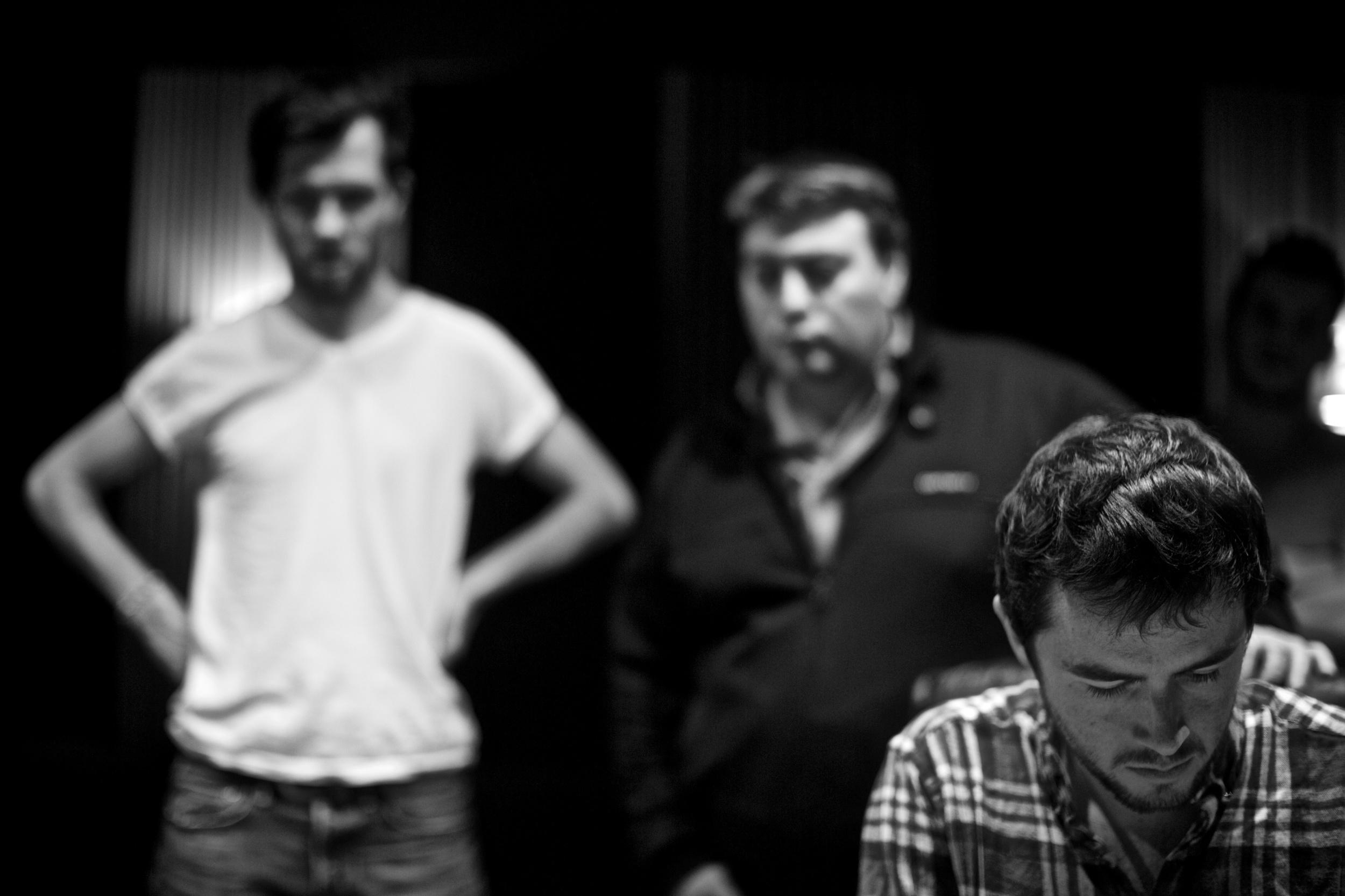 Hugh, Eric Legnini and Romain Clisson during Shadows sessions @Marc Obin