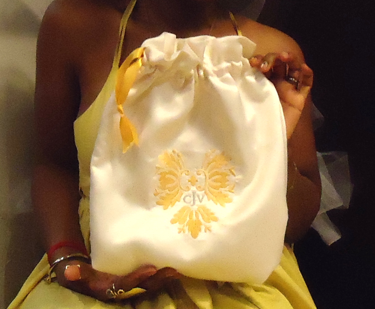 Bridal bag made by my mom.
