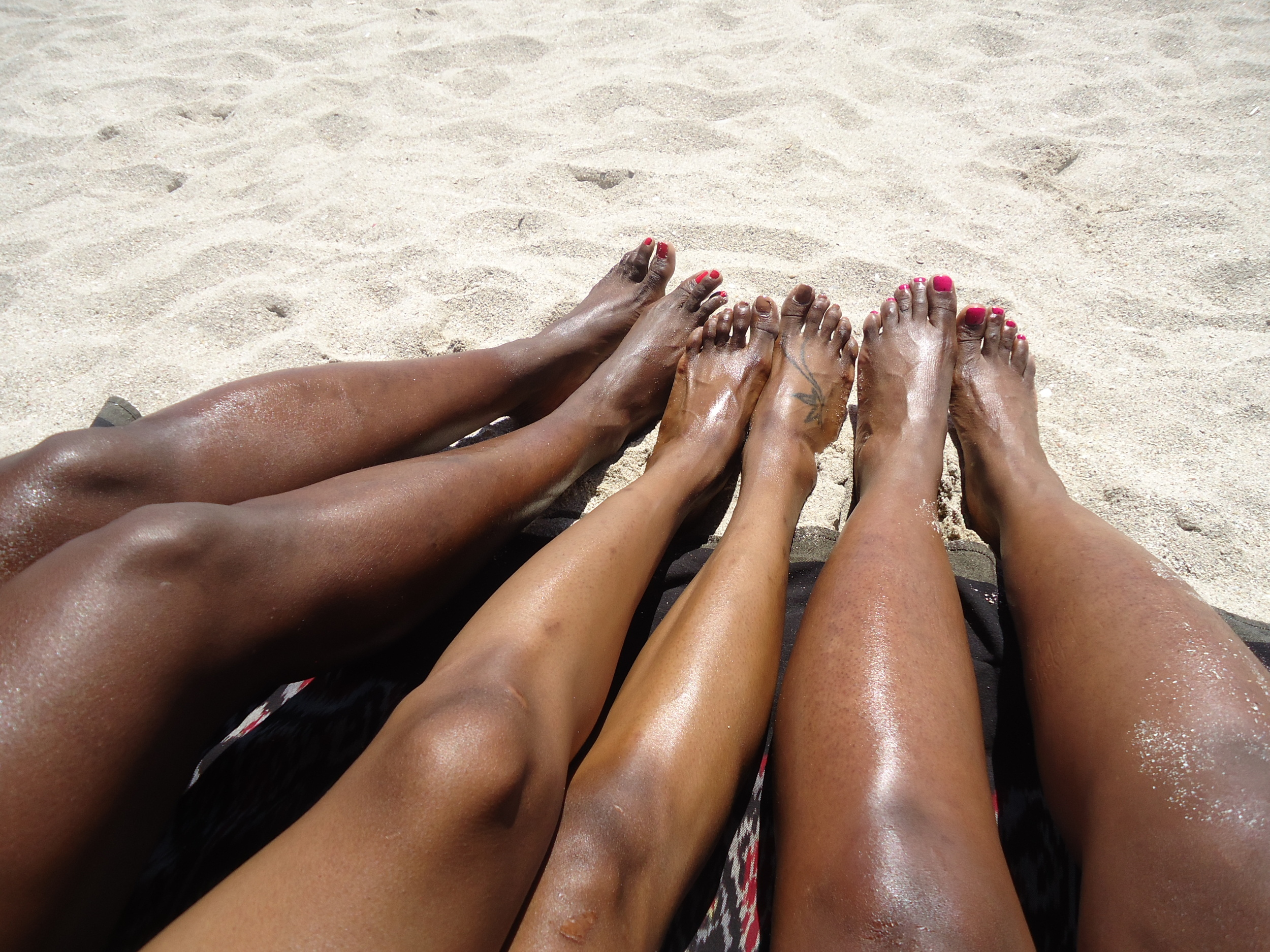 Different shades of skin.