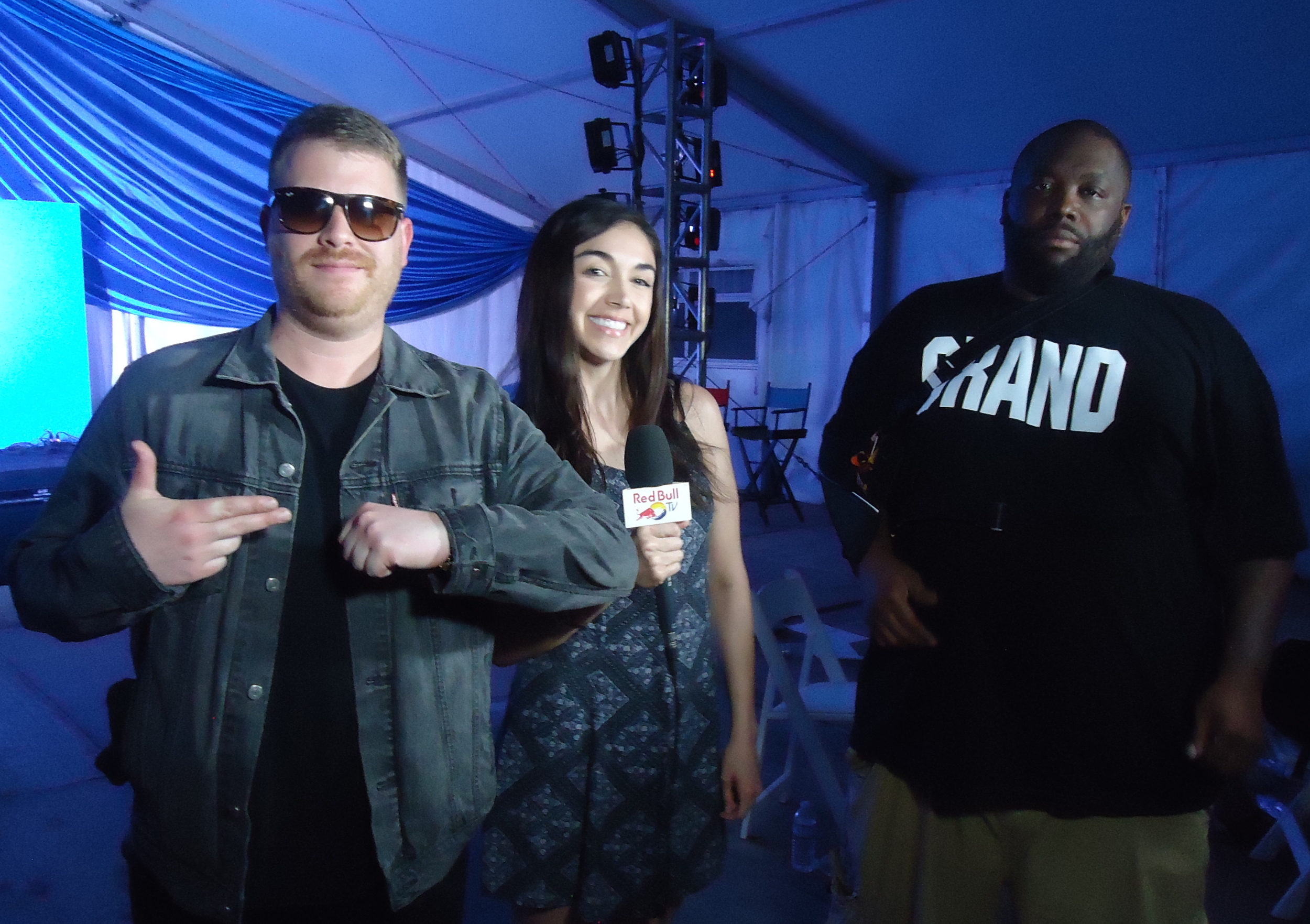 El-P, Killer Mike of Run the Jewels and Rebull.TV host Julie