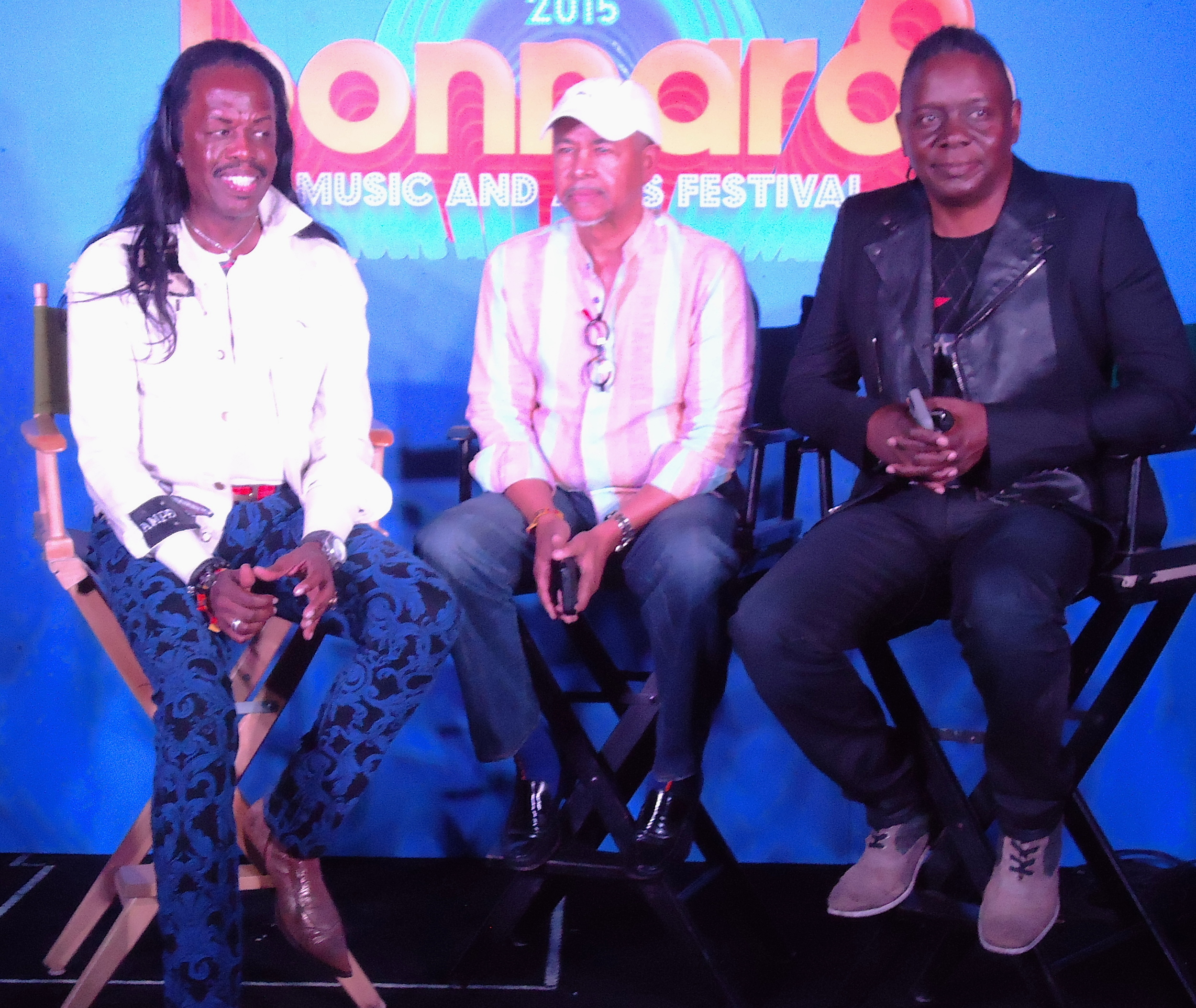 Verdine White, Ralph Johnson,  Philip Bailey of Earth Wind and Fire