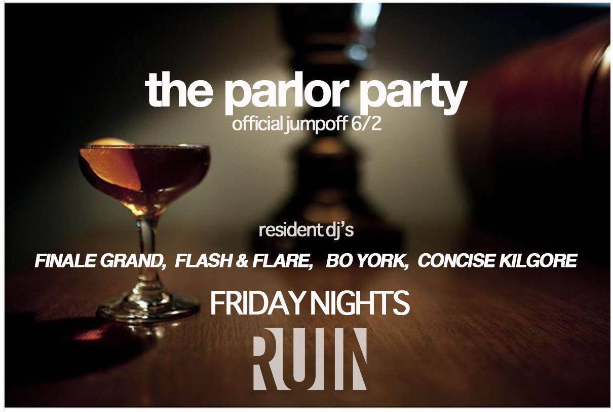 Finale Grand , Flash & Flare,  Concise Kilgore  & Bo York Rotate DJing at The Ruin Sugarhouse