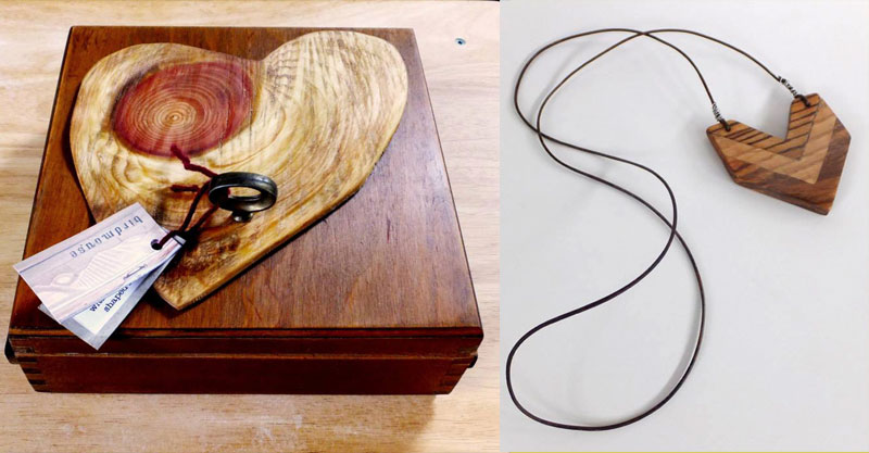 Heart Shape Box & Chevron Necklace
