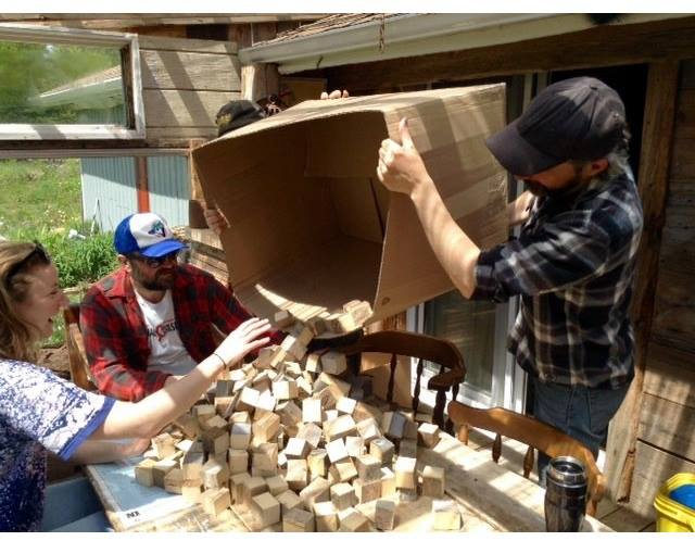 Have thousands of blocks to sand? Host a Block Party! photo credit: Angela Russell