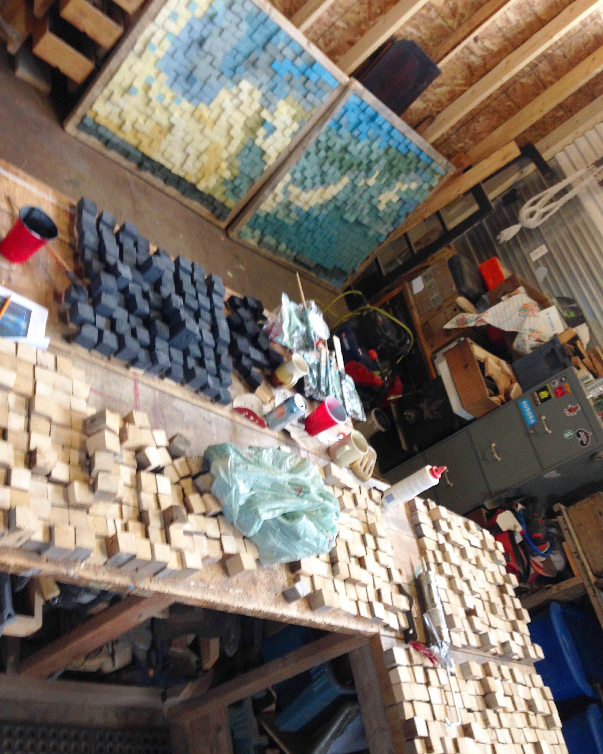 The studio was pretty block-swamped for a few weeks.