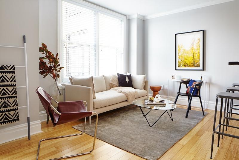 Living Room at The Touraine Apartments in Rittenhouse Square Philadelphia