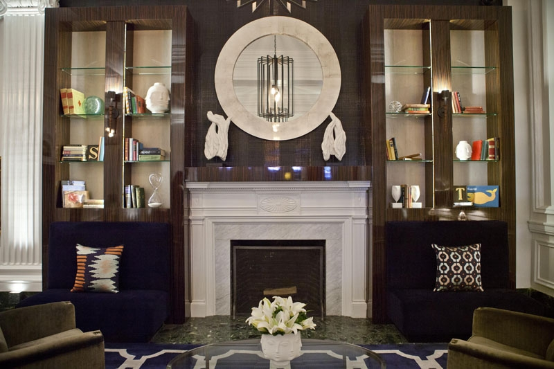 Fireplace at The Touraine Apartments in Rittenhouse Square Philadelphia