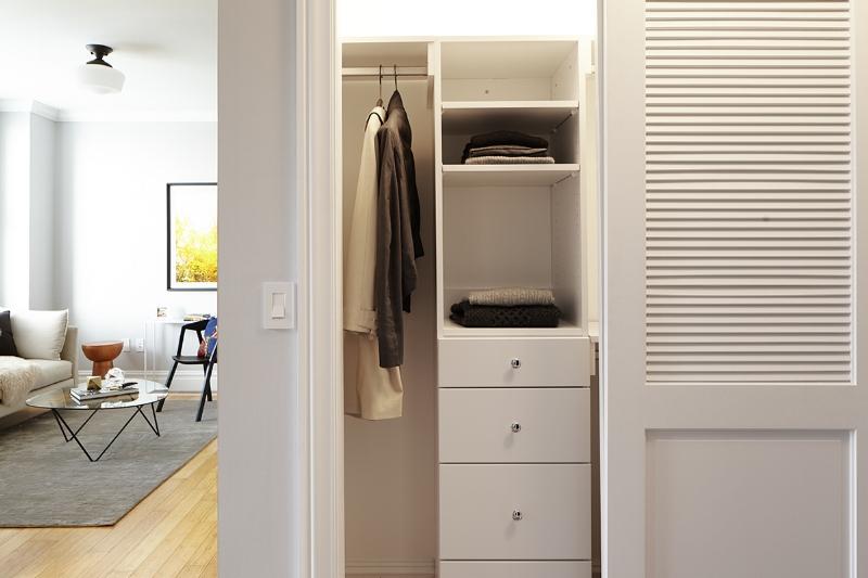 Closet at The Touraine Apartments in Rittenhouse Square Philadelphia