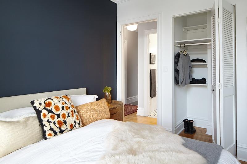 Bedroom Closet at The Touraine Apartments in Rittenhouse Square Philadelphia