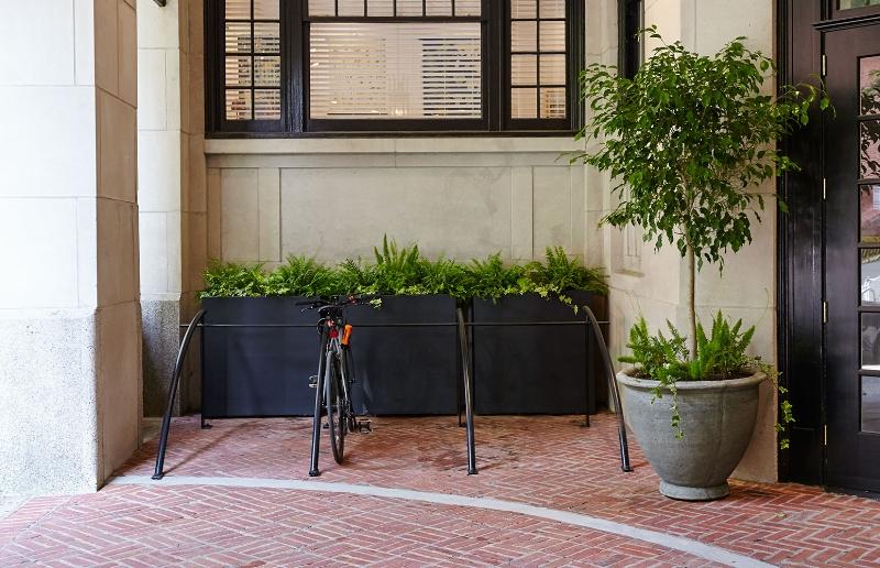 Bike Racks at The Touraine Apartments in Rittenhouse Square Philadelphia
