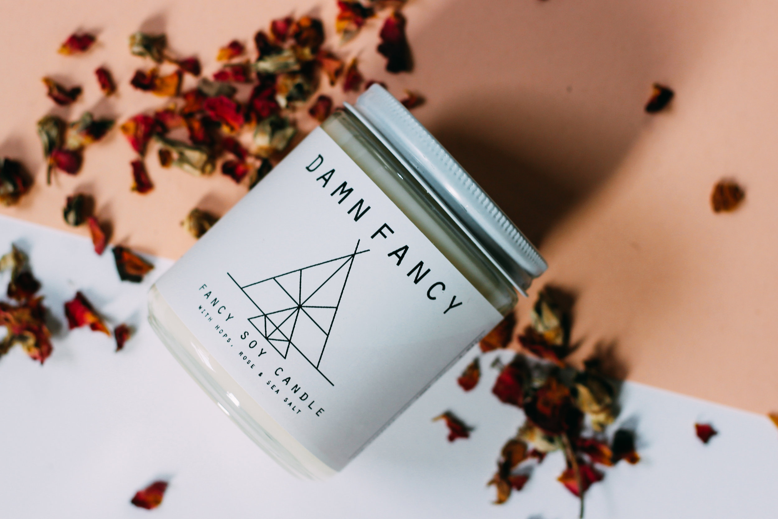 Damn Handsome Grooming Co - Hop Flower Candle $18