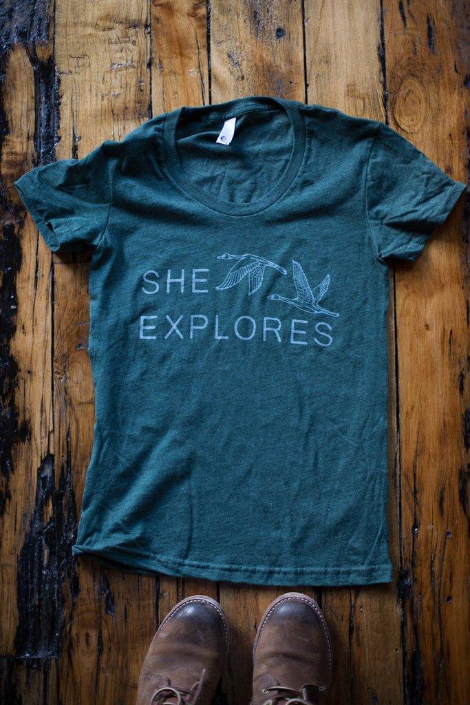 She Explores - Logo Tee $22