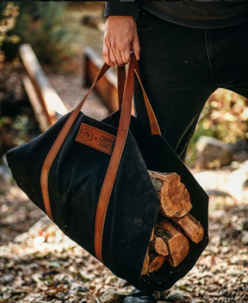 If you're looking to partake in some serious daydreaming, we suggest following our pal Lindsey Bro's @CabinLove. We're pretty sure the first step in building a better fire is owning one of these firewood totes so,you'll want to check out the collab they launched this week with @hustleandhideco.