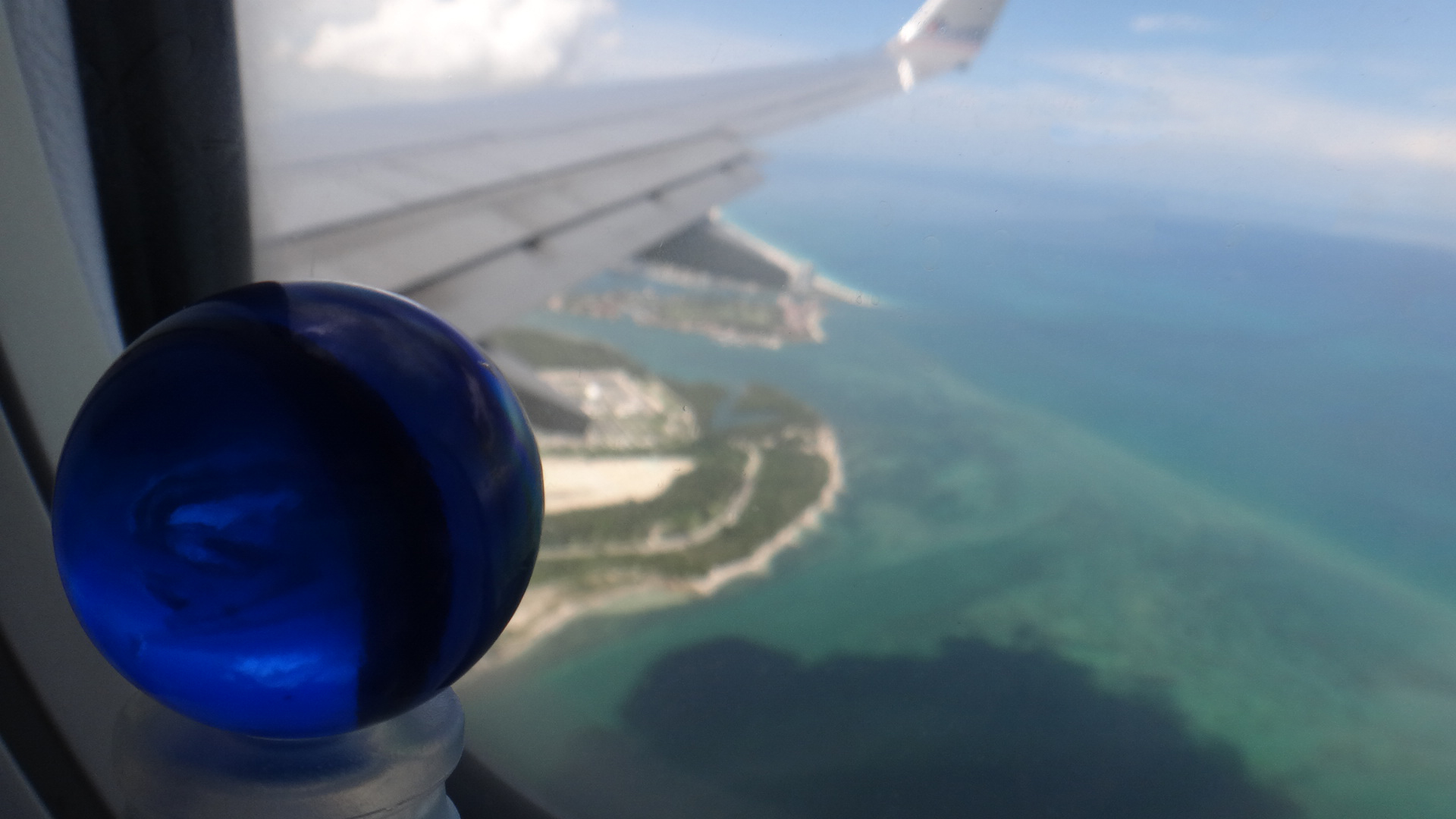 Leaving Belize with blue marble...
