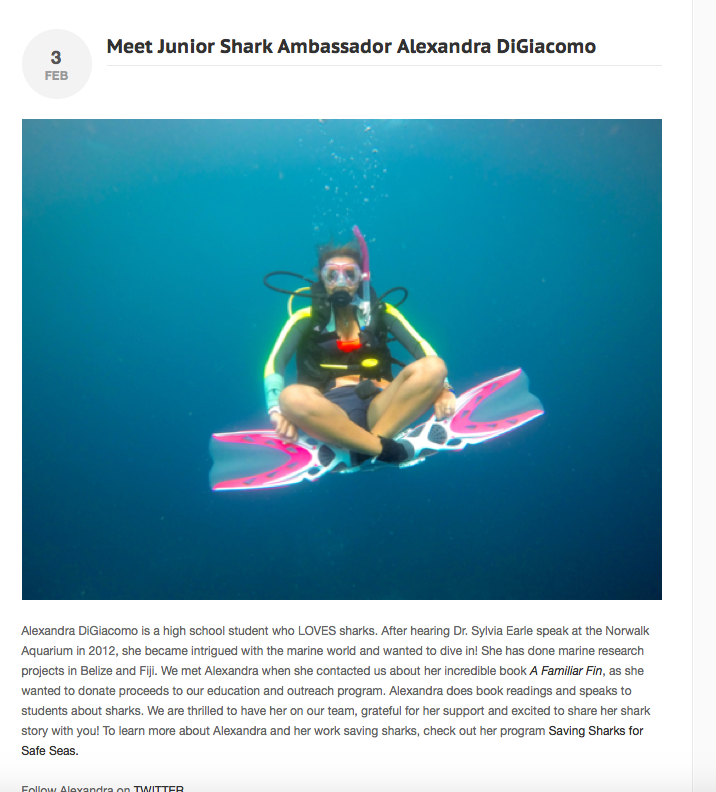 Copy of Junior Shark Ambassador at Shark4Kids