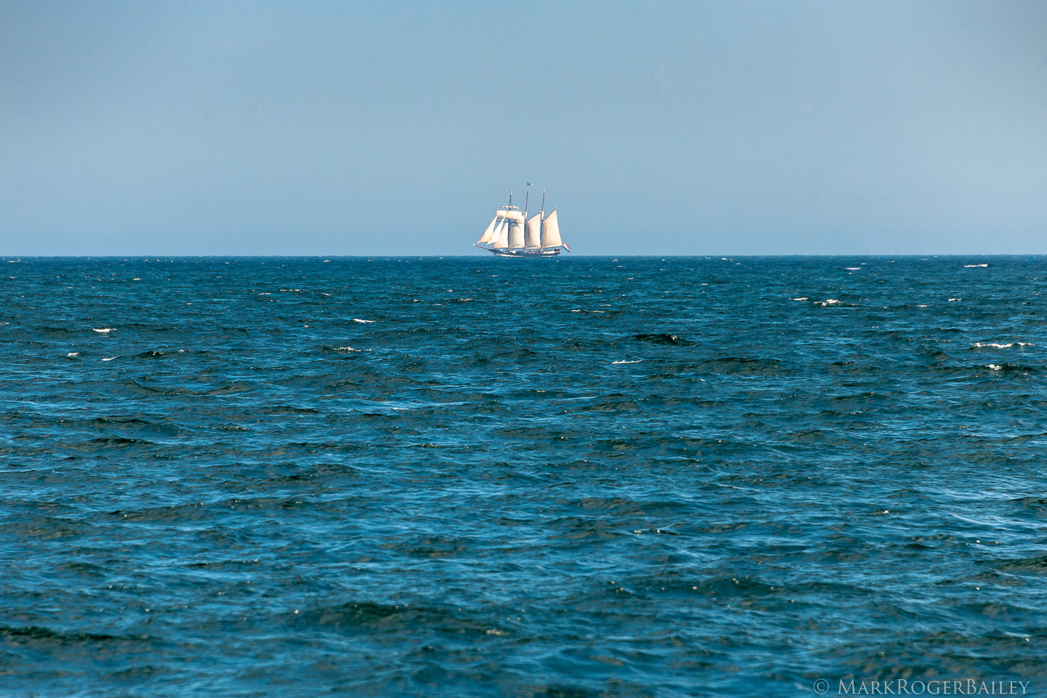 Three-masted Topsail Schooner  Oosterschelde  NL   (2018) by Mark Roger Bailey