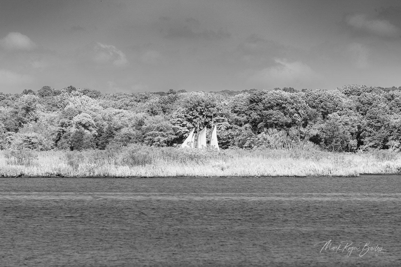 Schooner Mary E. Running North Near Lyme  | Mark Roger Bailey