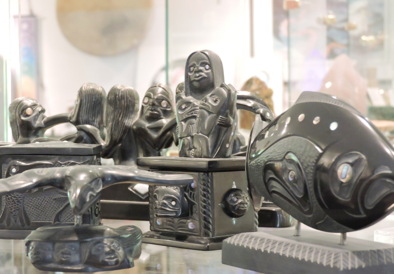 Selection of Argillite Carvings by Haida Artists