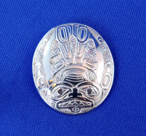Silver Dogfish Woman Pendant by Clayton Gladstone