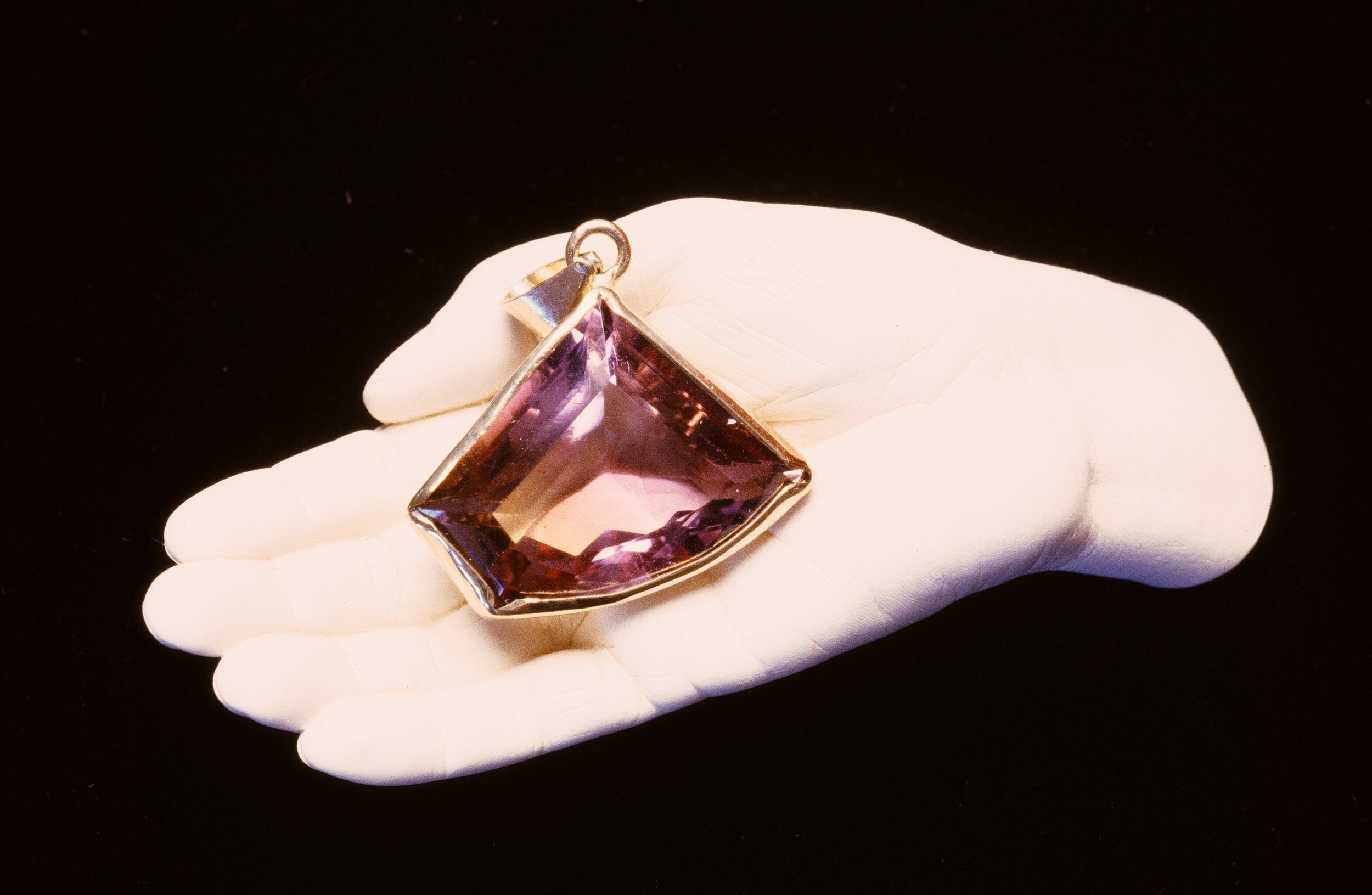 Ametrine Gemstone Pendant set in 14K Gold. Inquire to custom order.