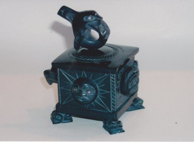 Killer Whale Box With Sun, Bear, and Frogs