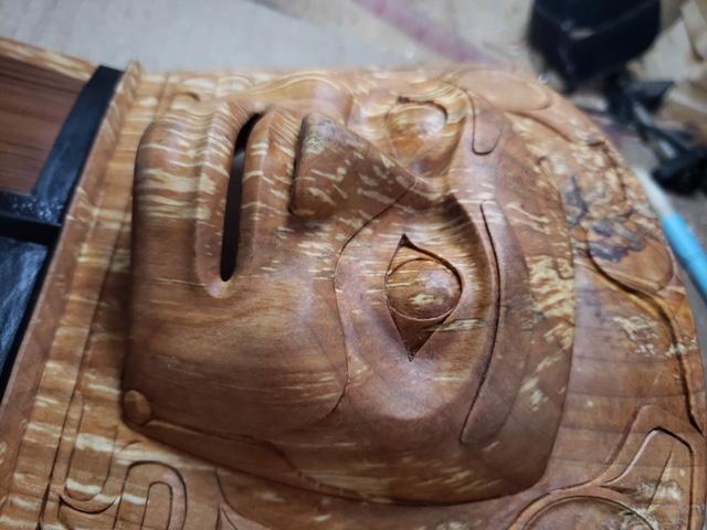 Northwest coast carving wood SH