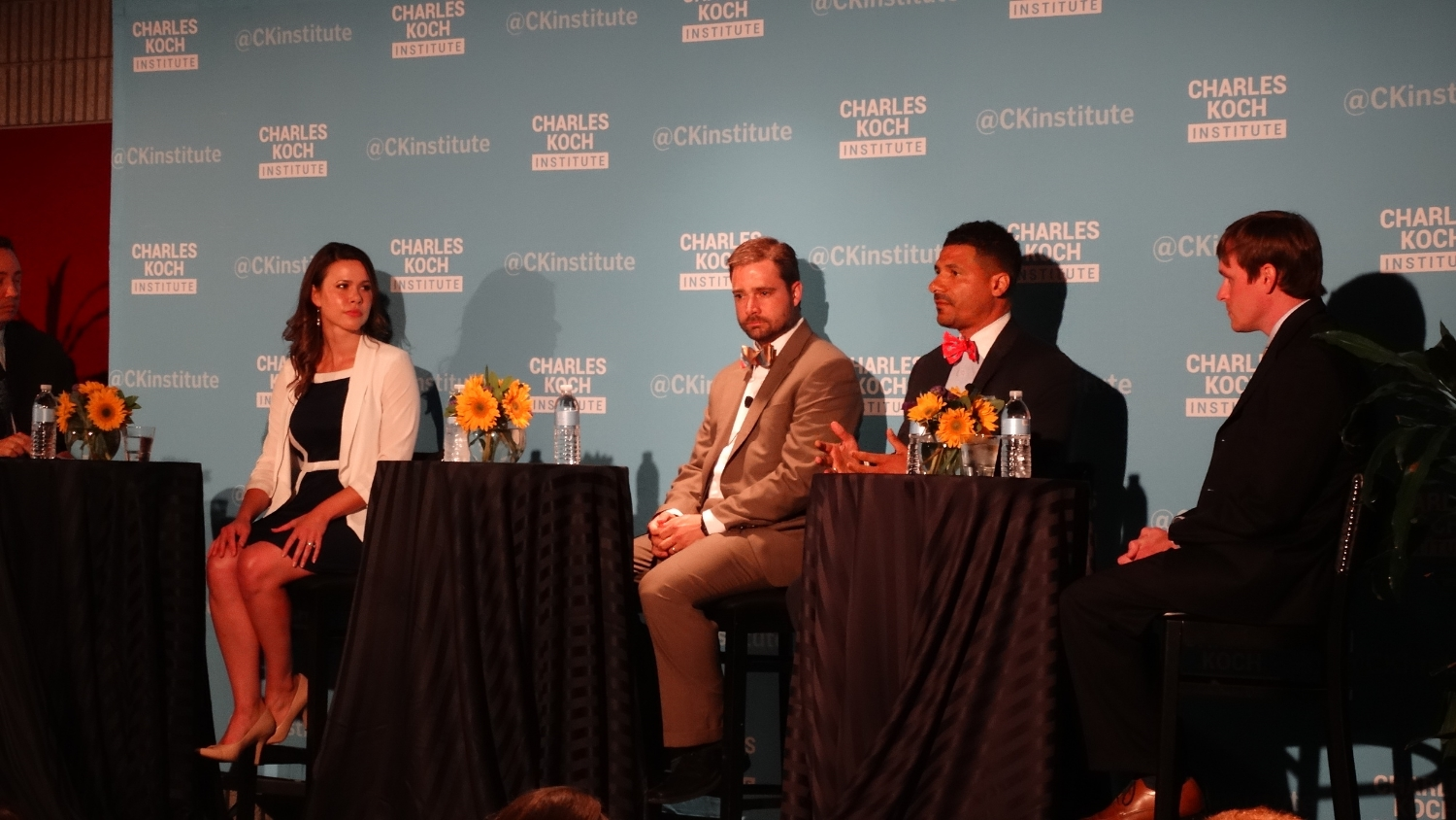 Stephanie participates in a school choice panel at the Charles Koch Institute.