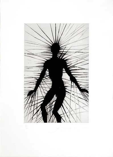 Artist: Anthony Gormley  Title: Untitled (Some of the Facts), 2001  Edition of 200  Medium: Etching and Aquatint on Wove Paper  Dimensions:57.5 cm (h) x 41.6 cm (w)