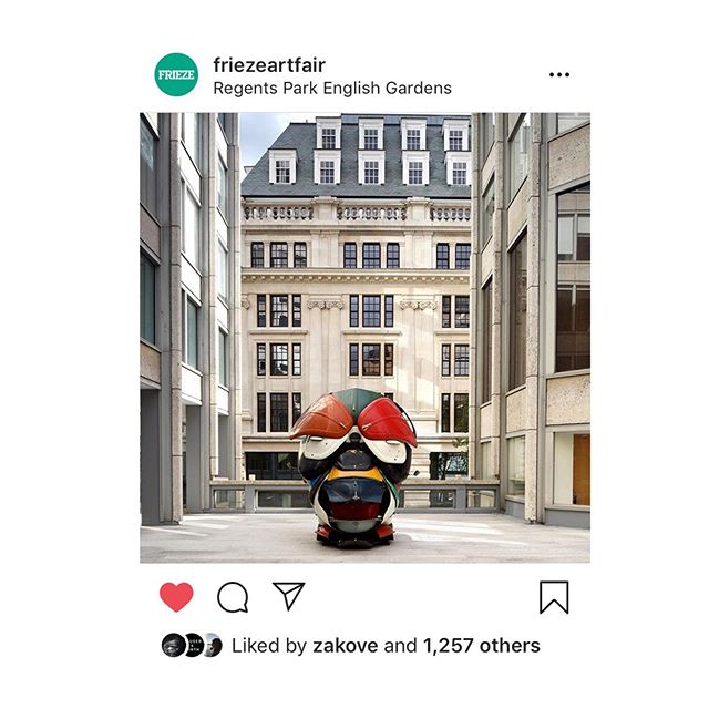 Delighted that @zakove sculpture 'Autonomous Morris' has been selected for @friezeartfair sculpture in Regents Park.The work was exhibited for the first time at @tishmanspeyer Smithson Plaza art program which @encountercontem curates. A wonderful validation for the project and for an amazing artist. #encountercontemporary #zakove #vigogallery #smithsonplaza #tishmanspeyer #autonomousmorris