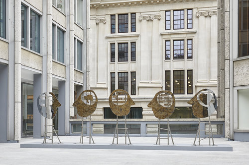 Olaf Breuning 'Heads' Launched in Smithson Plaza