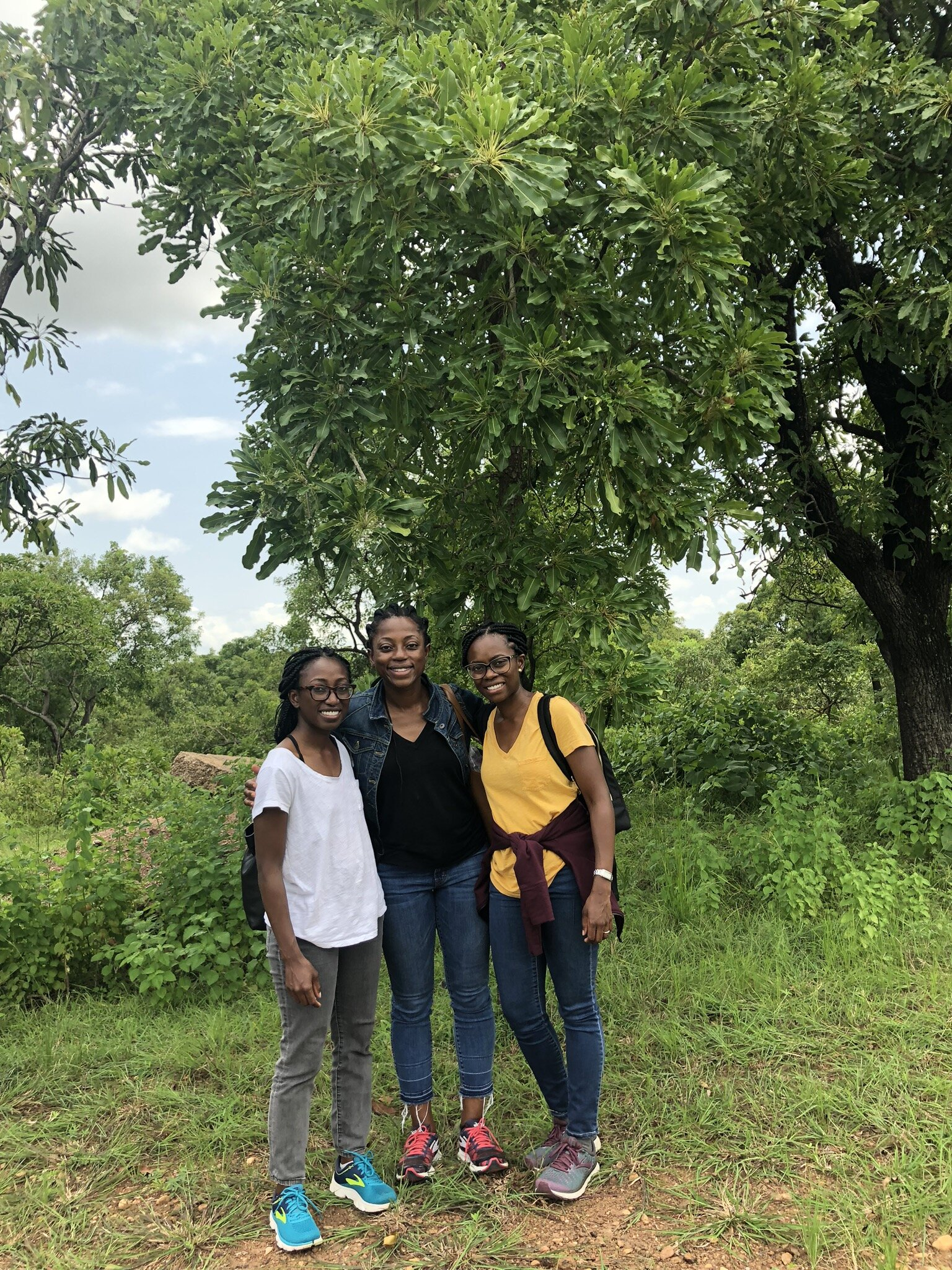 The Karité founders touring shea nut factories in Ghana.