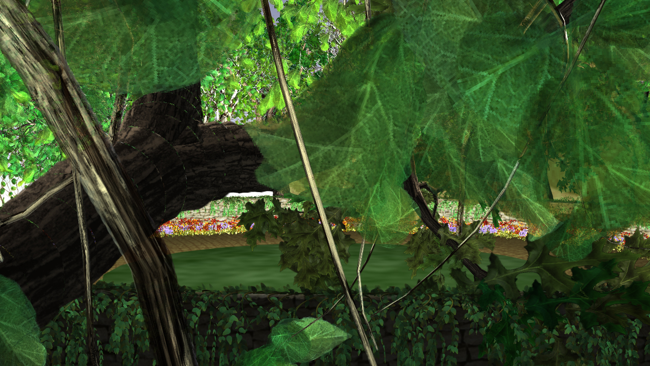 Image: Claudia Hart, Still from Timegarden 02, one hour loop, 2006 / ©Claudia Hart