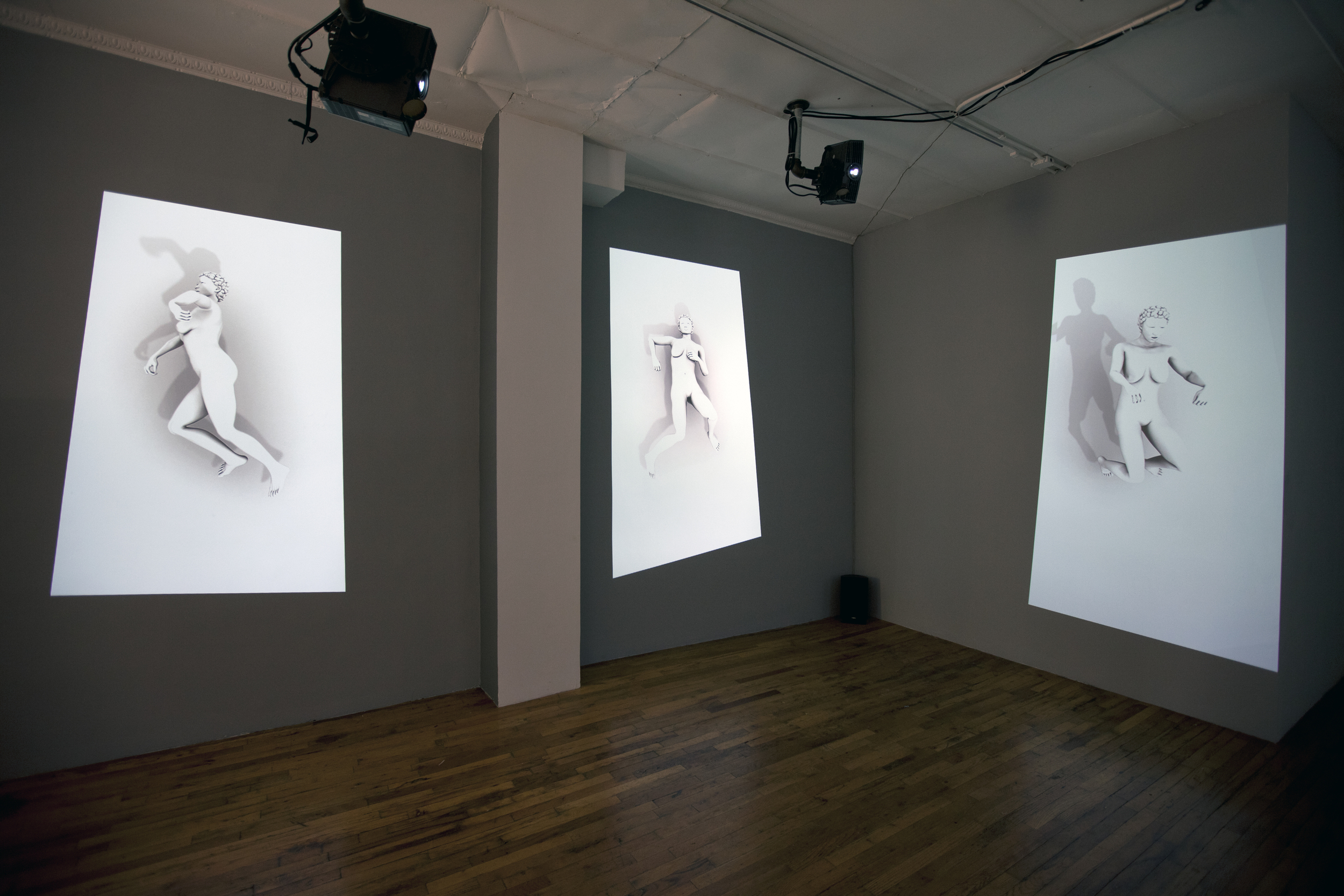 Image: Claudia Hart, Recumulations, installation view /   © Claudia Hart  © Black & White Gallery/Project Space