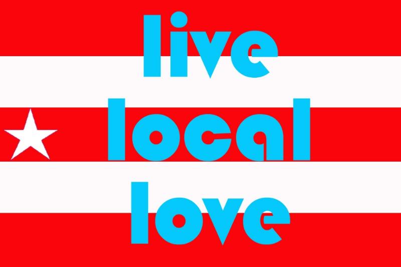 Image: Carolina Caycedo,Live Local Love, flags & banners series, 2007 /©Carolina Caycedo