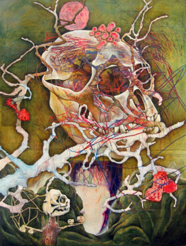 Image: Randy Wray, Apparition, acrylic, paper, pencil, glitter, oil paint on canvas,   2005- 2006 /   ©Randy Ray