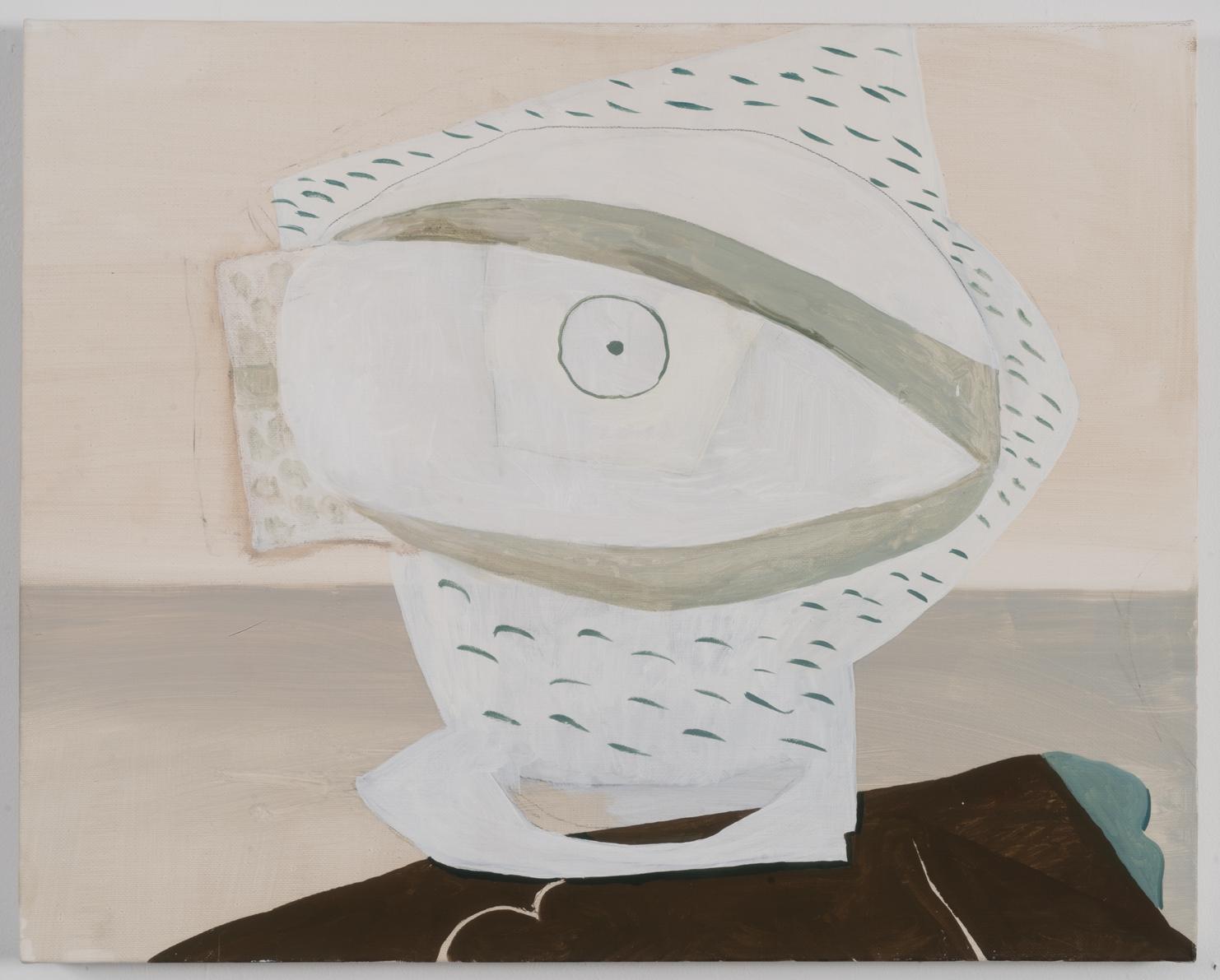 """Still Life with Eyeball, 2016 Oil on Canvas 16"""" x 20"""""""