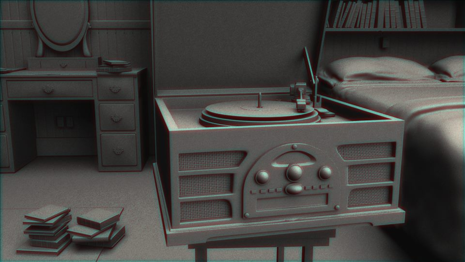 "Ground Series Untitled (Record Player) digital ink jet print, 28.5""x46"" video, 1:10 2014/16"