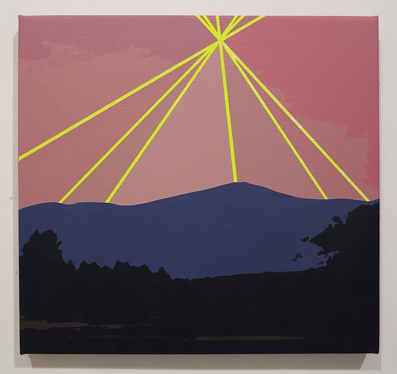 SOLAR ROCK 77c, 2014 Acrylic on canvas 17 x 16 inches