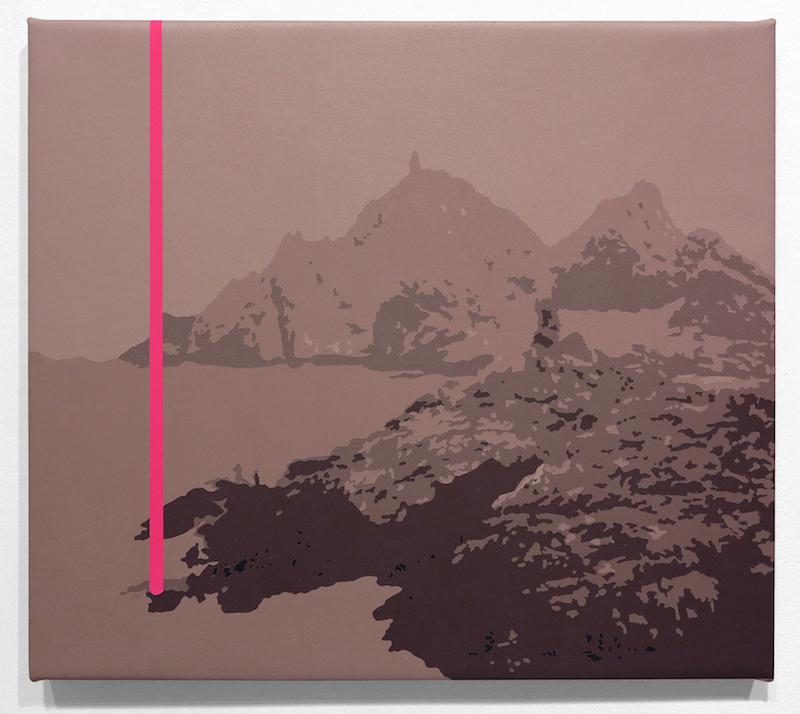 SOLAR ROCK 7, 2014 Acrylic on canvas 12 x 14 inches