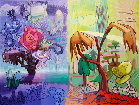 "Field Days, 2014 Acrylic on canvas 60""x78"""