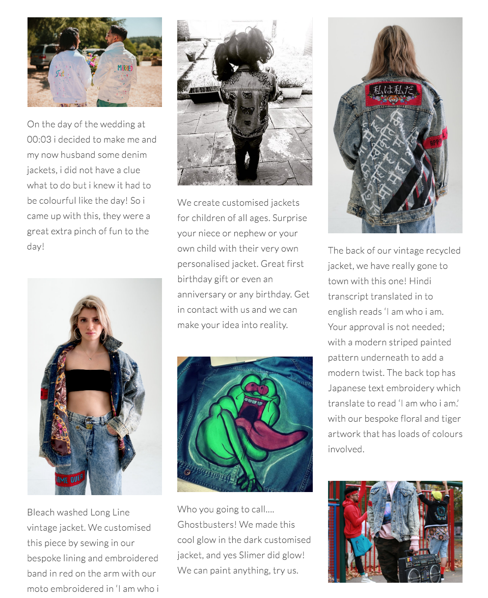 Find Our Customised Denim Page  Here , Get in contact for your own!