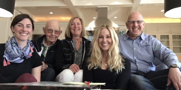 FROM LEFT TO RIGHT: BOARD MEMBERS BRENNA RIGGERS, JOAN RIGGERS, MARY LYTLE, STEVE TACKE. SECOND FROM LEFT: MARK TACKE (BROTHER TO SISTER MARY PAULE TACKE).